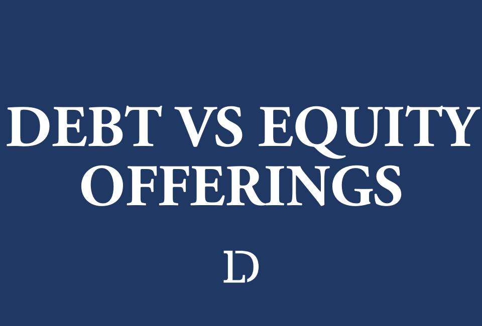 Debt Versus Equity Offerings